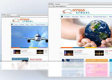Website client Omega Travel